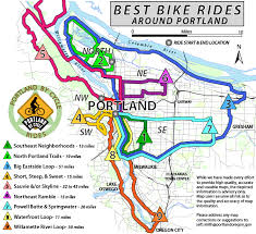 map of oregon 2 best rides around portland recreational bicycling rides maps