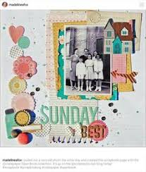 sunday sketch with nathalie scrapbook page layouts pinterest