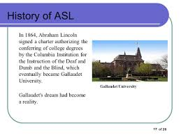 History Of The Blind History Of Asl How Did Asl Get Started Ppt Video Online Download