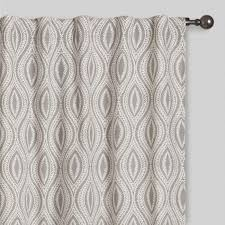 gray geo laura concealed tab top curtains set of 2 world market