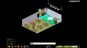 habbo hotel beer pong party room tour youtube