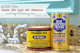 simple cleaning trick how to remove rust from chrome in the bathroom