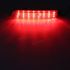 nissan murano japanese to english pair led brake tail light rear bumper reflector lamp for nissan