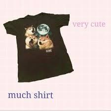 Doge Meme T Shirt - tops doge meme howling moon tshirt poshmark