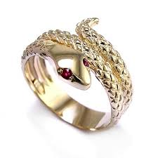 cheap engagement rings for men anzor jewelry 14k gold snake ruby eye serpent ring men s or