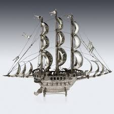Ship Chandelier Pushkin Antiques U2014 Antique 20thc German Solid Silver Impressive