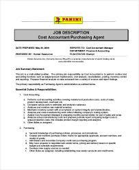 sports agent job description purchasing agent job description 9 free pdf word documents