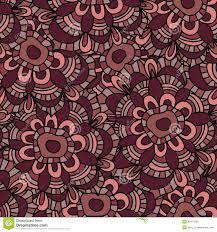 seamless flower pattern on white background marsala color stock