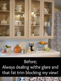 Kitchen Cabinet Doors With Glass Fronts by Kitchen Cabinet Makeover Guest Post From Fox Hollow Cottage