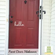 Interior Door Makeover Front Door Makeover With Modern Masters