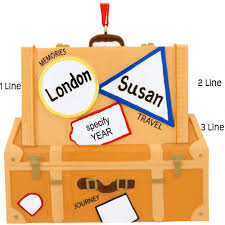 personalized travel suitcases ornament hobbies