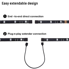 home theater backlighting amazon com led light strip for tv multi color rgb home theater