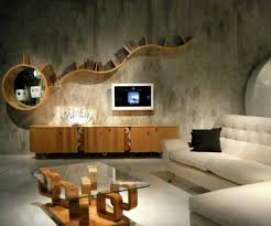 Wall Mounted Wooden Shelves by 26 Out Of The Box Contemporary Lounge Design Inspiration
