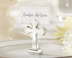 religious party favors 200pcs lot sacrament silver finished resin cross place card
