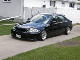 honda civic jdm black honda civic ek sedan on 15x8 bbs rm with gold hardware bbs