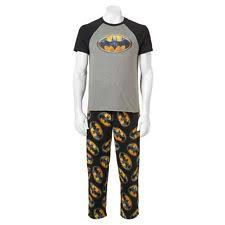 dc comics batman mens 2pc graphic t shirt fleece pajama