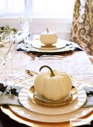 thanksgiving dinnerware tableware citrineliving gold and aqua thanksgiving table