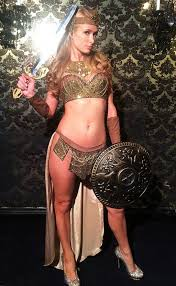 Skimpy Male Halloween Costumes Paris Hilton Wearing Gladiator Costume Gladiator Costumes