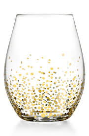 daphne u0027 stemless wine glasses gold dots crushes and wine