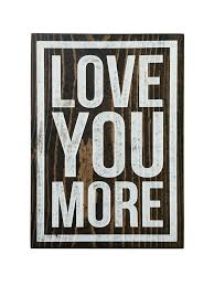 Home Decor Family Signs Love You More Family Room Kids Room Accent Decor Sign