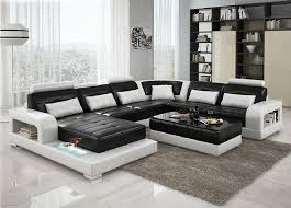 Black Leather Sectional Sofa Tufted Black Leather Sectional Sofa Modern Minimalist White Wooden