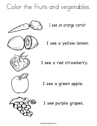 fruits and vegetables coloring pages for kids printable kids