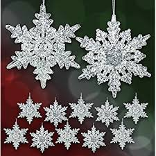 acrylic iridescent snowflake ornaments set