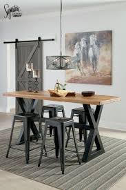 Diy Industrial Dining Room Table Modern Custom Furniture Bar Height Table Urban Wood Goods