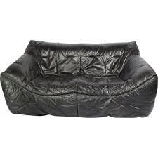 la roche bobois canapé canapé en cuir noir d hans hopfer pour roche bobois 1980 design