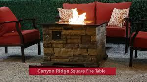 canyon ridge square fire table on vimeo