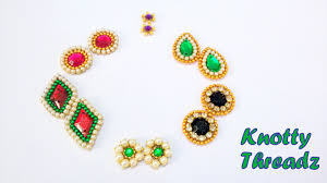 earing studs how to make earring studs patches at home tutorial