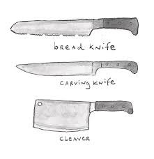 what are kitchen knives the 3 big kitchen knives