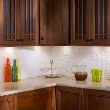 Fasade Kitchen Backsplash Classy White Color Fasade Hammered Galvanized Steel Backsplash