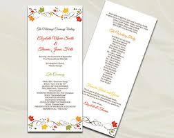 fall wedding programs 26 images of fall themed editable template eucotech