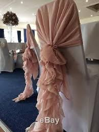 Used Wedding Chair Covers 80 Blush Pink Wedding Chair Cover Ruffle Hoods Used