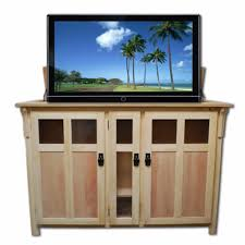 touchstone 70162 bungalow unfinished tv lift cabinet for tvs up to