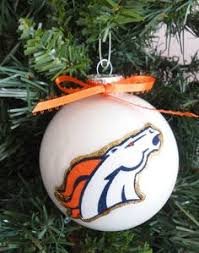 made denver bronco ornament available for purchase