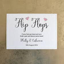 wedding flip flops wedding flip flops sign personalised with groom names
