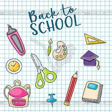 to school doodle clip greeting card vector clipart vector