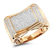 mens gold diamond rings pave diamond ring for men 10k yellow gold white gold gold 1 2ct