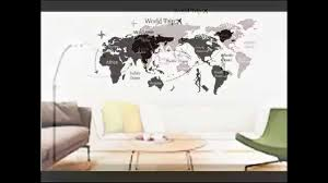 World Map Decal by New World Trip Map Removable Vinyl Quote Art Wall Sticker Decal