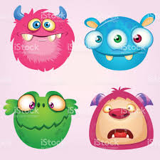 cute cartoon monsters collection vector set of 4 halloween monster