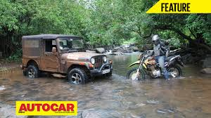 mahindra thar vs hero impulse off road video autocar india