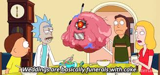 wedding cake gif tv quotes weddings are basically funerals with cake tv quotes