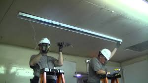 96 Inch Fluorescent Light Fixtures How To Lighting Retrofit For 2 T12 Fluorescent 8 Foot To