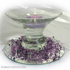 Purple Floating Candles For Centerpieces by Rose U0026 Purple Bead Garland Floating Candle Centerpiece