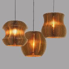 Paper Pendant Lights Online Shop Paper Honeycomb Naked Pupa Pendant Lamp Retro Art