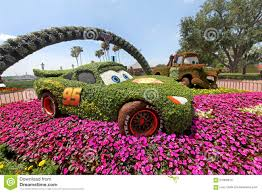 epcot flower and garden festival cars editorial stock photo