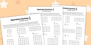 equivalent fractions worksheet arabic translation arabic