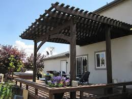 attached diy pergola kit with mortise and tenon old world